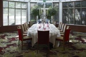The Garden Room private dinner
